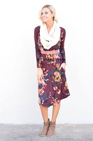 burgundy navy floral sweater dress best place to buy modest