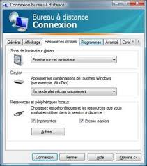 bureau à distance accéder à un ordinateur grâce au bureau à distance