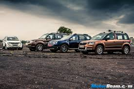 renault duster vs tata safari storme vs mahindra xuv500 vs skoda