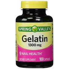 buy spring valley gelatin 1300mg nail health dietary supplement