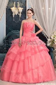 quinceanera dresses coral coral pretty quinceanera dress with floral 1st dress