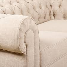 Linen Chesterfield Sofa by Mark Webster Design Chesterfield Sofa Range Colour Linen