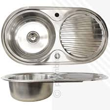Round Kitchen Sink by Single Bowl 1 0 Stainless Steel Inset Kitchen Sink Round