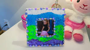 how to make diy picture frame easy kids crafts youtube