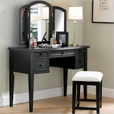 Antique Wood Vanity Powell Furniture Black Antique Wood Makeup Vanity Table With With