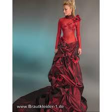 brautkleider rot ausgefallenes farbiges langarm brautkleid rot