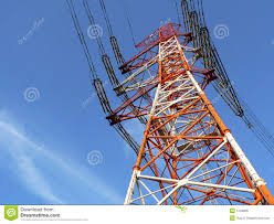 Cell Phone Tower Map Industrial Power Line Post Royalty Free Stock Photo Image 1249805