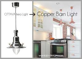 Farmhouse Pendant Lighting Fixtures by Copper Barn Light Ikea Hack