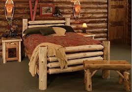Unfinished Pine Bedroom Furniture by Furniture Pine Log Wood Bed Frame With Unifinished Style Also