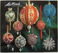 beaded christmas ornaments u2014 retro love affair