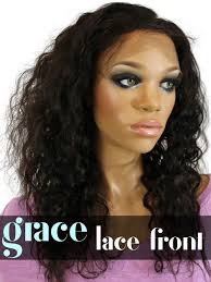 curl in front of hair pic lace front wig brazilian curl gracelacewigs