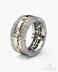 mens two tone wedding bands ropes mens two tone gold wedding band with diamonds rockford