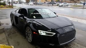 audi supercar black 2017 audi r8 v10 looking fabulous at new jersey gas station