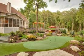 Putting Green In Backyard by Backyard Putting Greens Neave Landscaping