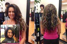 curly hair extensions before and after hair extension special at cape coral fort myers hair extensions