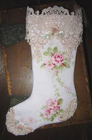 123 best shabby chic christmas stockings images on pinterest