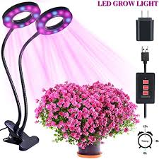 horticultural led grow lights led grow light mnbs 24w dual head horticultural plant growing light