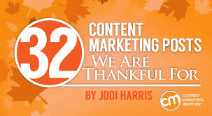 32 content marketing posts we are thankful for