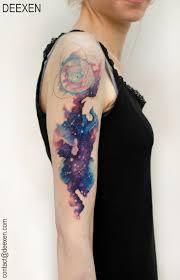interstellar by deexen tattoo cosmic feather pinterest