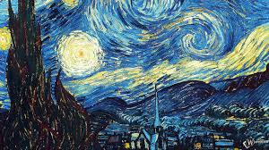 1366x768 wallpaper vincent van gogh the starry night oil canvas
