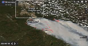 Missouri Wildfire Map by Satellite Pics Show Fort Mcmurray Under Attack From U0027the Beast U0027