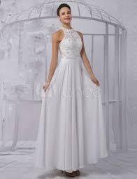 milanoo robe de mari e a ligne scoop neck floor length robe de mariée en tulle avec