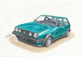 volkswagen drawing vw golf boston mk2 by mglola on deviantart