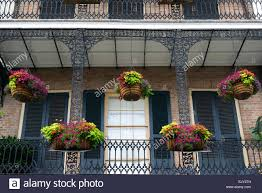 hanging baskets planters balcony balconies decorate french quarter