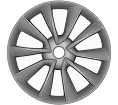tesla model 3 wheels three design patents published x auto