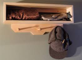 how to make a wall mounted coat rack woodworking project