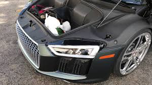 Audi R8 Front - how much does the vossen 2017 audi r8 v 10 plus hold in its front