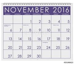 november 2016 calendar thanksgiving