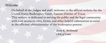 eastern district of texas united states bankruptcy court