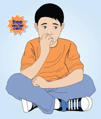 anxious kid vector art u0026 graphics freevector com