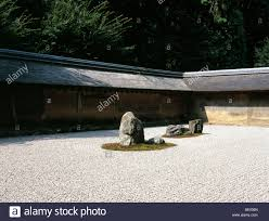 Ryoanji Rock Garden Ryoanji Temple Landscape Zen Rock Garden Stock Photo Royalty