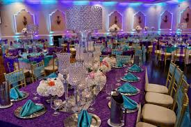 purple turquoise wedding decorating of party