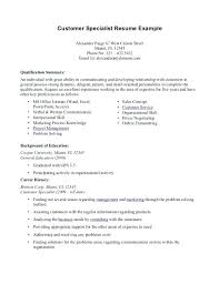 resume summary exles customer service resume qualifications skills for customer service