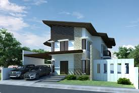 modern two storey house design becoming minimalist building