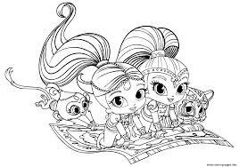 shimmer and shine pets coloring pages printable