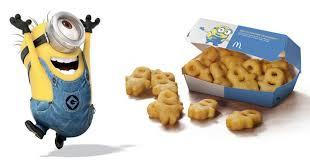 cuisine mcdo jouet et maintenant venez vous régaler avec les frites minions