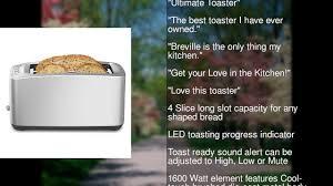 Bread Shaped Toaster Breville Bta830xl Die Cast 4 Slice Long Slot Smart Toaster Youtube