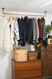 How To Build Closet Shelves Clothes Rods by How To Hanging Copper Pipe Clothes Rack Pipe Clothes Rack