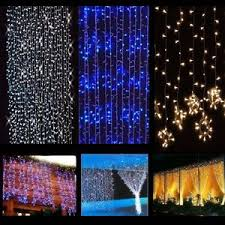 416 832 1248 2400 led string curtain light l
