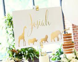 safari animal baby shower or birthday invitation printable