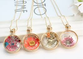 diy glass pendant necklace images Diy pendant necklace jewelry time necklace dried flowers glass jpg