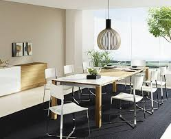 luxury modern dining room with large space and contemporary