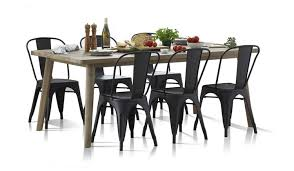 Black Metal Chairs Dining 7 Dining Table And Chairs Focus On Furniture