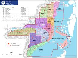 Map Of Florida Zip Codes by City Of Miami Neighborhood Enhancement Team Net