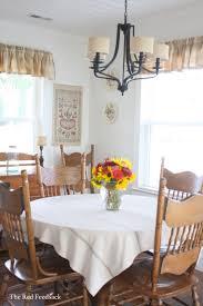The Red Feedsack A Farmhouse Tablecloth
