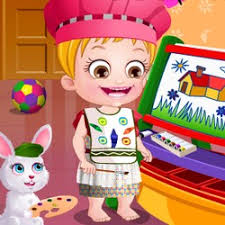 baby painting game